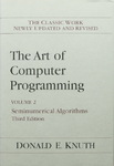 Donald E. Knuth - The Art of Computer Programming, Volume 2 - Seminumerical Algorithms, Third Edition: Umschlag vorn